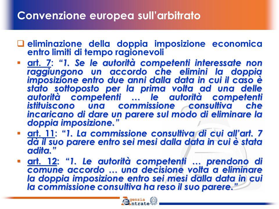 Convenzione europea sullarbitrato Obbligo di ottemperanza art.