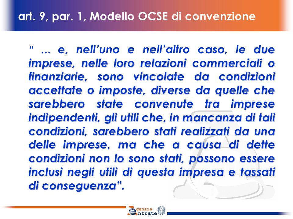 Commentario allart.9 Modello OCSE 1.