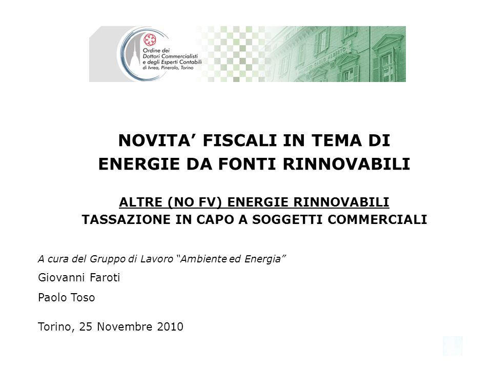 Gruppo di Lavoro Ambiente ed Energia 12 DISCIPLINA IVA Modalità e termini speciali Ai sensi della lettera e) dellart.