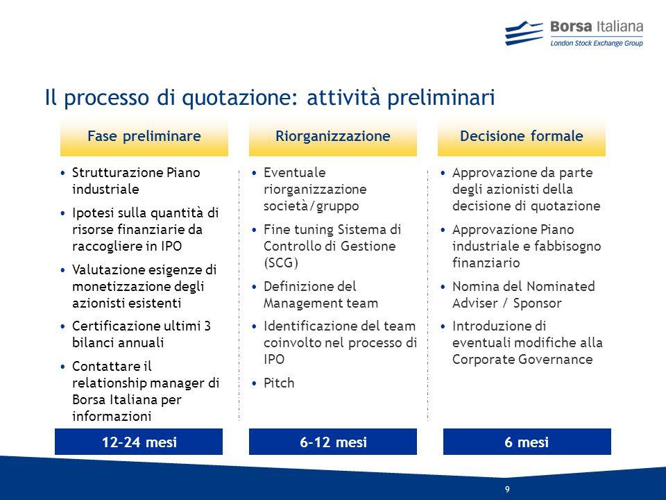 8 UnIPO (Initial Public Offering) si struttura secondo tre caratteristiche principali: Ammontare dellofferta globale e flottante Aumento di capitale v