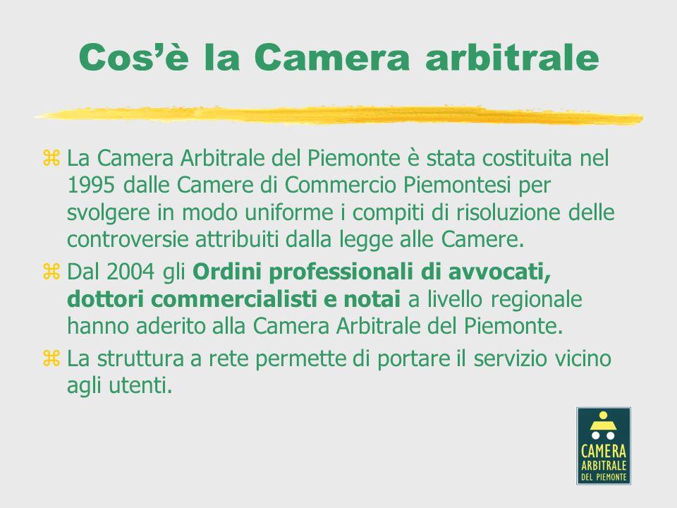 Cosè la Camera arbitrale zLa Camera Arbitrale del Piemonte è stata costituita nel 1995 dalle Camere di Commercio Piemontesi per svolgere in modo unifo