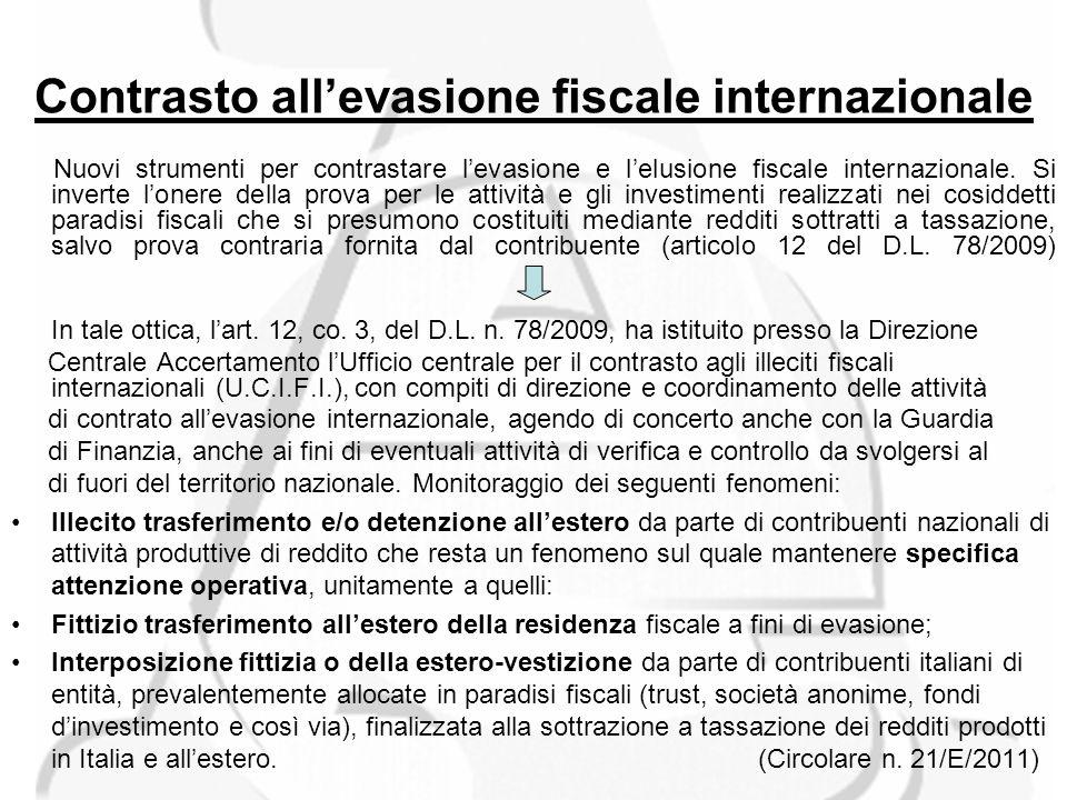 Contrasto allevasione fiscale internazionale Nuovi strumenti per contrastare levasione e lelusione fiscale internazionale.