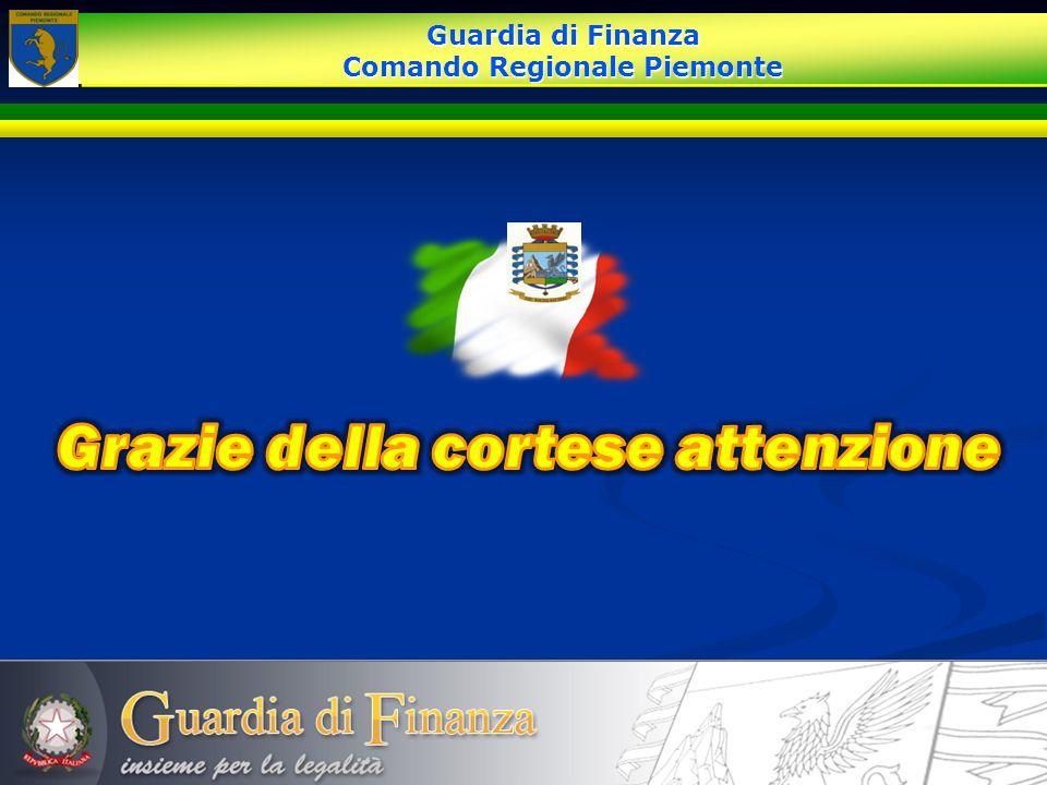 Guardia di Finanza Comando Regionale Piemonte Guardia di Finanza Comando Regionale Piemonte
