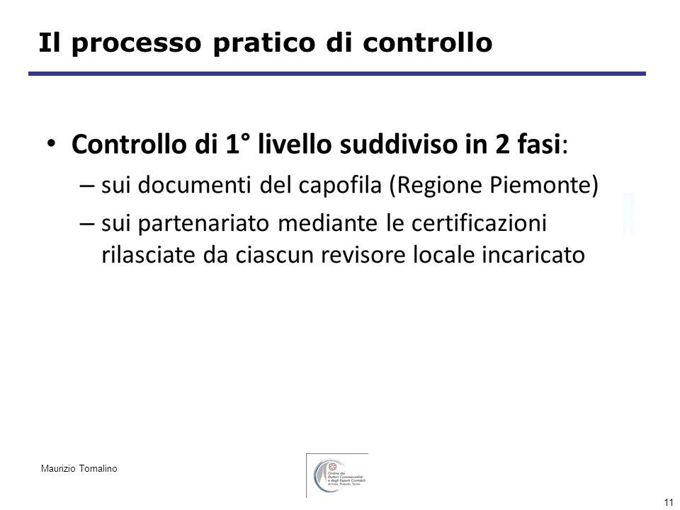 11 Il processo pratico di controllo Maurizio Tomalino