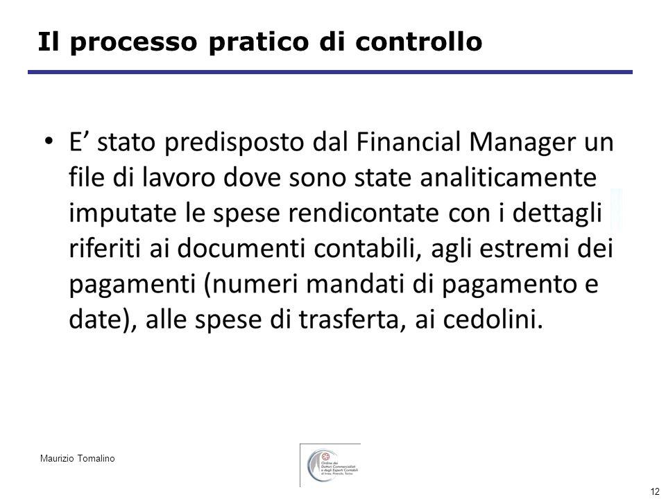 12 Il processo pratico di controllo Maurizio Tomalino