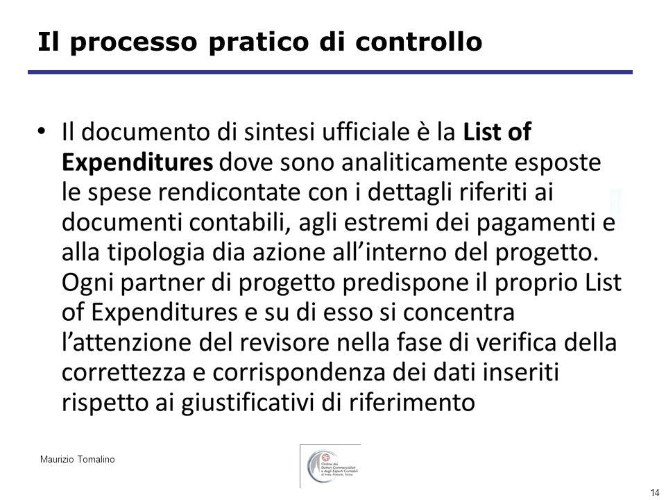 14 Il processo pratico di controllo Maurizio Tomalino