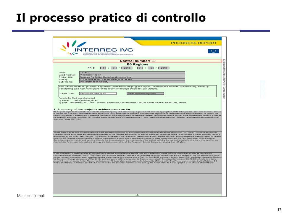 17 Il processo pratico di controllo Maurizio Tomalino
