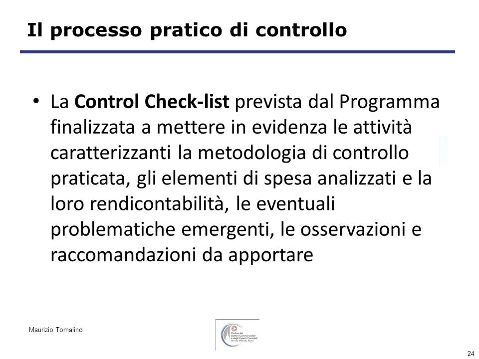 24 Il processo pratico di controllo Maurizio Tomalino