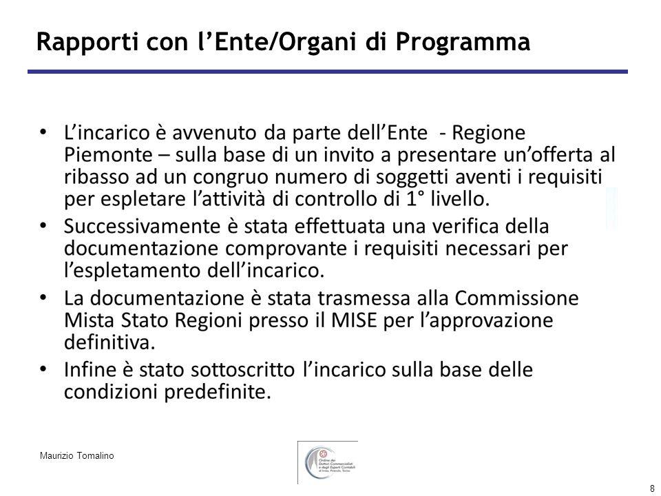 8 Rapporti con lEnte/Organi di Programma Maurizio Tomalino