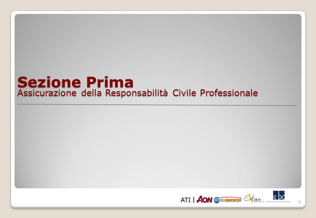 Sezione Prima Assicurazione della Responsabilità Civile Professionale 14