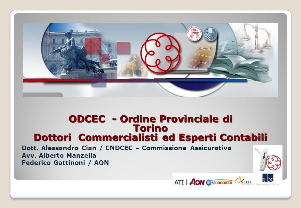 ODCEC - Ordine Provinciale di Torino Dottori Commercialisti ed Esperti Contabili Dott. Alessandro Cian / CNDCEC – Commissione Assicurativa Avv. Albert
