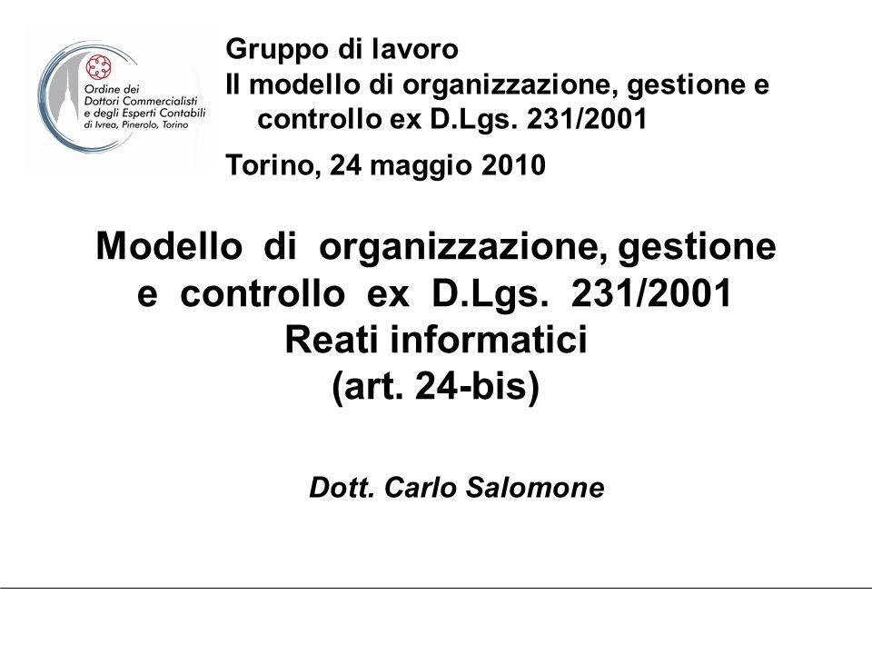 Modello di organizzazione, gestione e controllo ex D.Lgs.