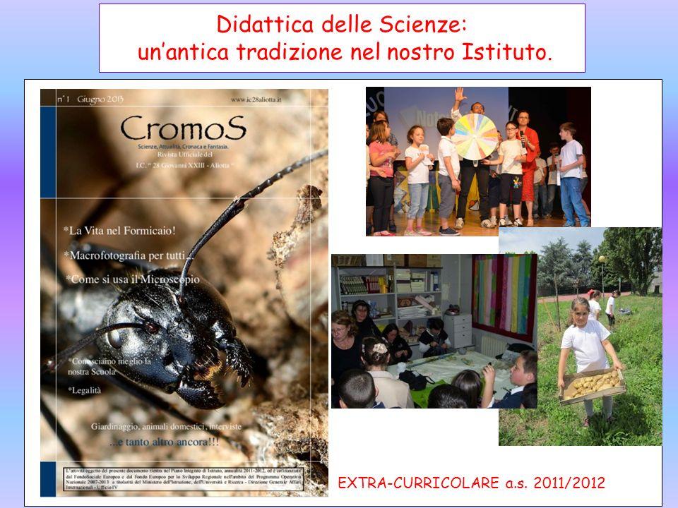 Didattica delle Scienze: unantica tradizione nel nostro Istituto. Scuola dellInfanzia a.s.2011/2012