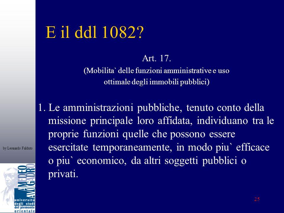 by Leonardo Falduto 25 E il ddl 1082. Art. 17.