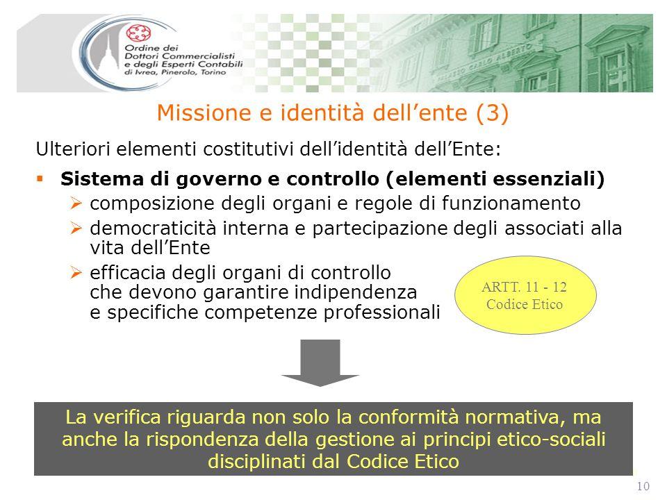 10 Sistema di governo e controllo (elementi essenziali) composizione degli organi e regole di funzionamento democraticità interna e partecipazione deg