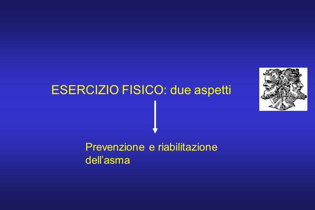 ESERCIZIO FISICO: due aspetti Prevenzione e riabilitazione dellasma