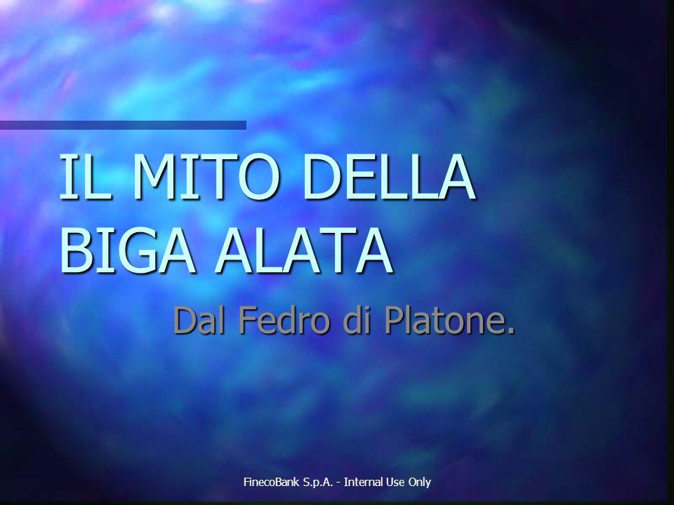 IL MITO DELLA BIGA ALATA Dal Fedro di Platone. FinecoBank S.p.A. - Internal Use Only