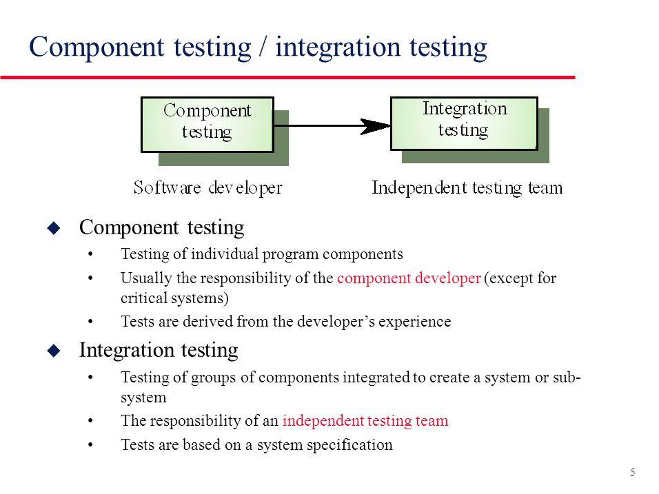 16 Bottom-up integration testing