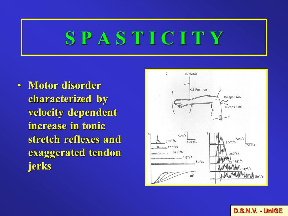 NEUROTRANSMITTERS AND PHYSIOLOGICAL MECHANISMS INVOLVED IN SPASTICITY GABAGlycineGlutamateEAAsNoradrenalineSerotonine D.S.N.V.