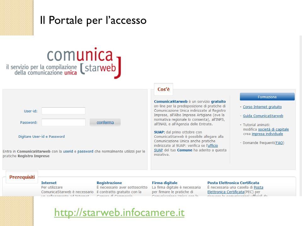 Le pratiche inviate Le pratiche che si trovano nello stato di inviate può essere visualizzata solo nei componenti essenziali, ovvero la Distinta di Comunicazione Unica e gli allegati.
