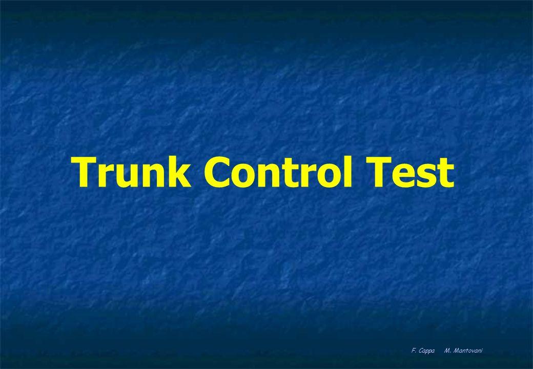 TRUNK CONTROL TEST La capacità di controllo del tronco dopo ictus è una importante caratteristica prognostica correlata al livello delleventuale recupero.