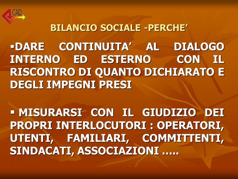 BILANCIO SOCIALE -A CHI E RIVOLTO .