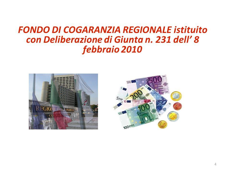 4 FONDO DI COGARANZIA REGIONALE istituito con Deliberazione di Giunta n. 231 dell 8 febbraio 2010