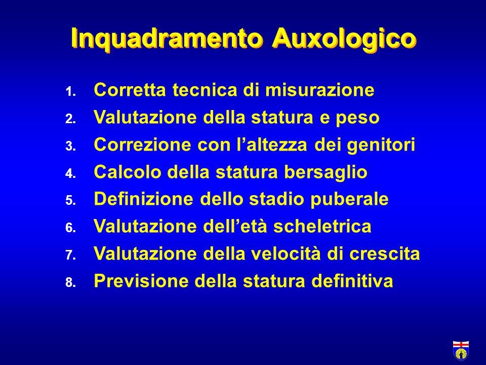 Inquadramento Auxologico 1.Corretta tecnica di misurazione 2.