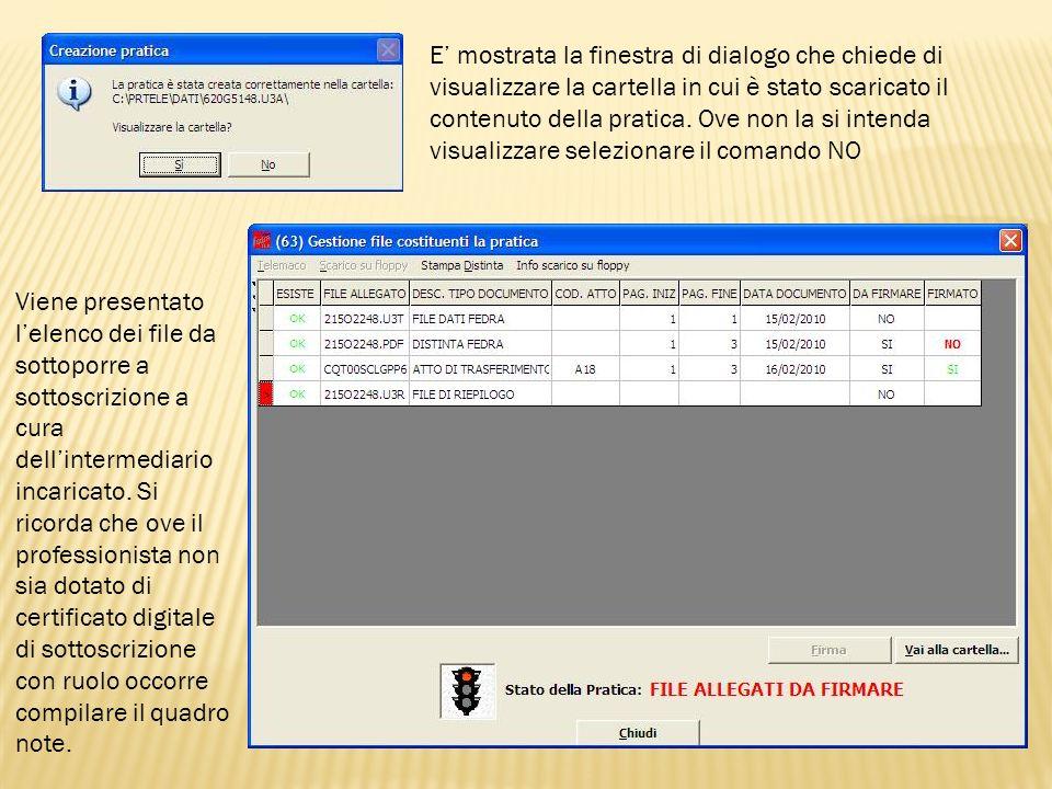Selezionato il file da firmate è attivato il programma di firma associato allapplicazione Fedra in fase di configurazione.