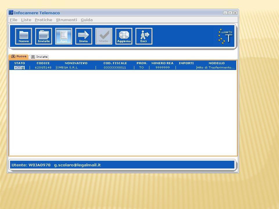 Cliccare sul tasto combo ove è possibile selezionare importo del diritto o viceversa selezionare il campo inserisci importo manualmente per digitare limporto nel campo adiacente.