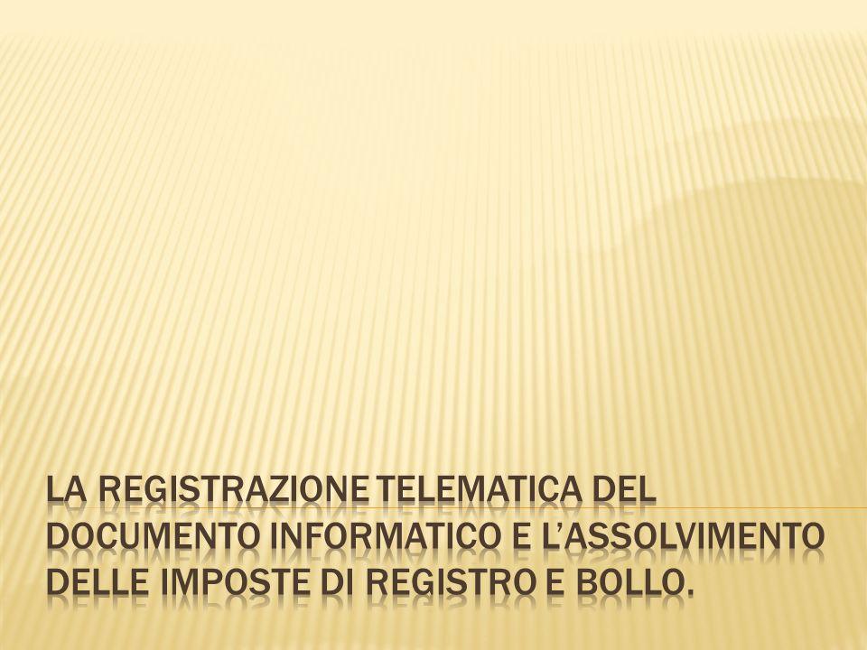 Dal primo giugno 2009 è disponibile il software per la gestione della richiesta di registrazione telematica dellatto di trasferimento delle partecipazioni di srl.