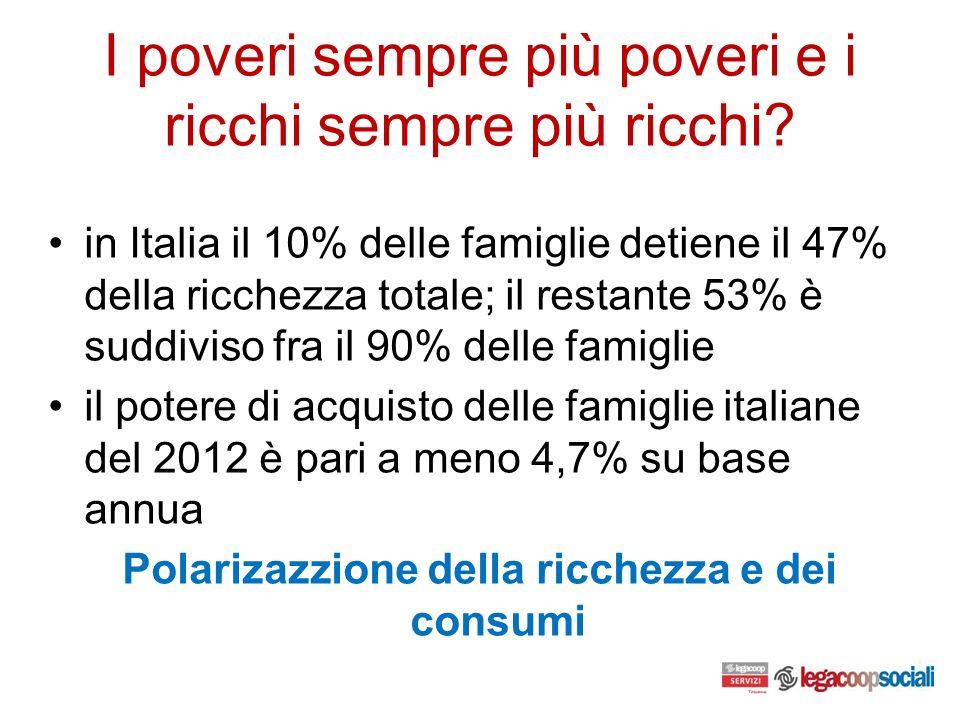 I poveri sempre più poveri e i ricchi sempre più ricchi.