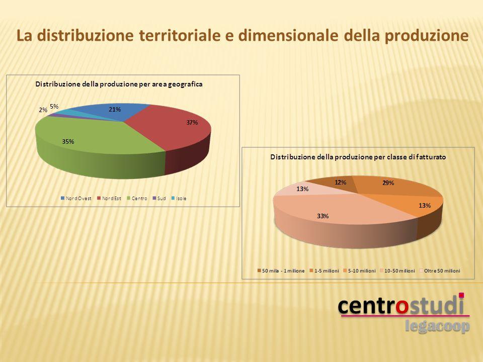 La distribuzione territoriale e dimensionale della produzione