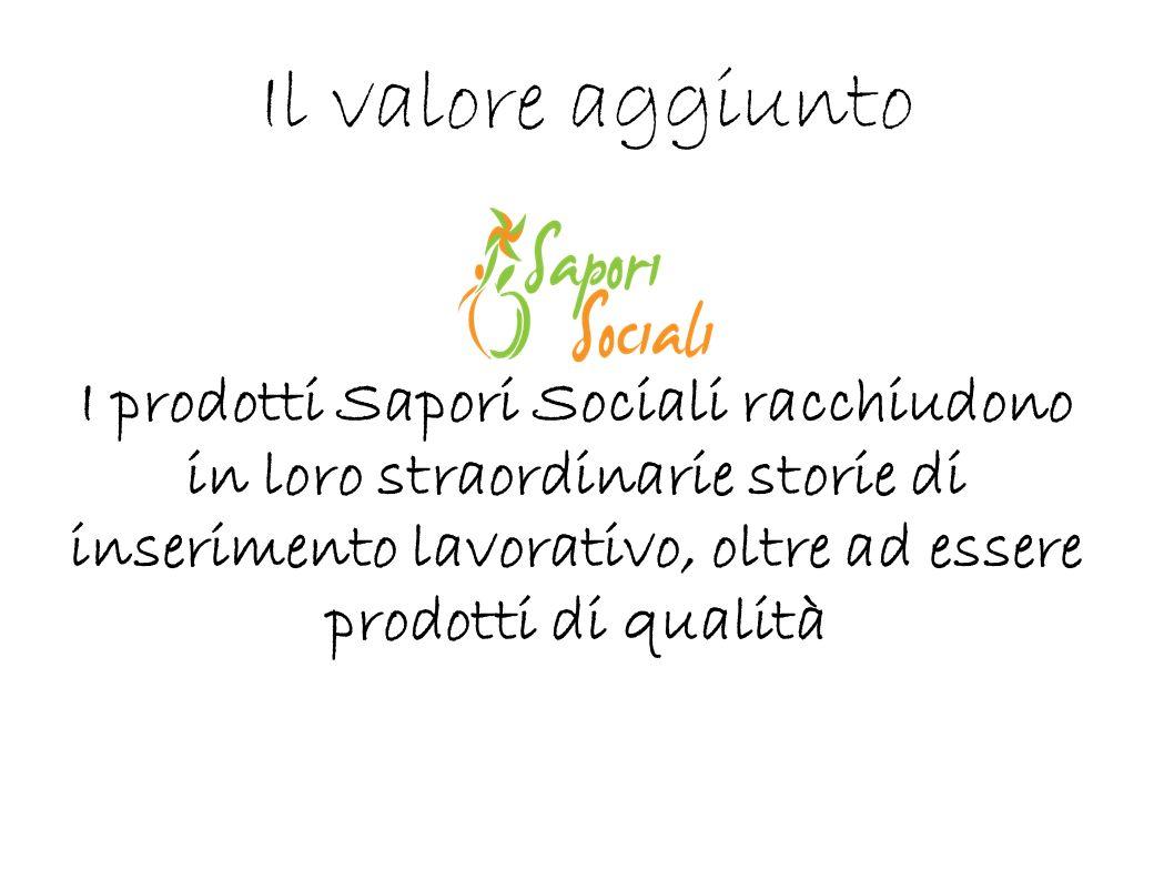 Il valore aggiunto I prodotti Sapori Sociali racchiudono in loro straordinarie storie di inserimento lavorativo, oltre ad essere prodotti di qualità