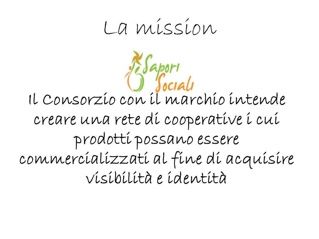 La mission Il Consorzio con il marchio intende creare una rete di cooperative i cui prodotti possano essere commercializzati al fine di acquisire visi