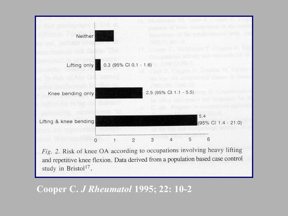 Cooper C. J Rheumatol 1995; 22: 10-2