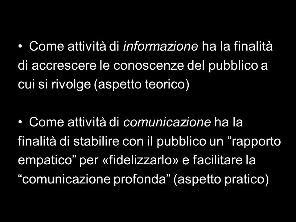 La comunicazione contiene sempre informazione