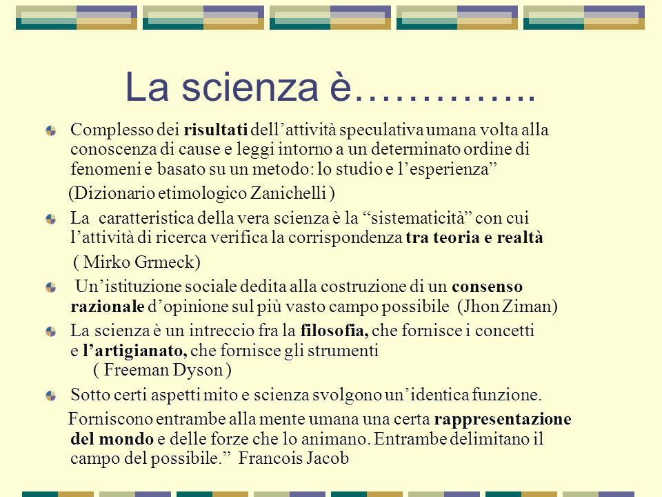 La scienza è…………..