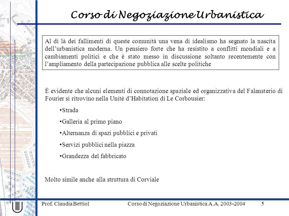 Corso di Negoziazione Urbanistica Prof. Claudia Bettiol Corso di Negoziazione Urbanistica A.A.