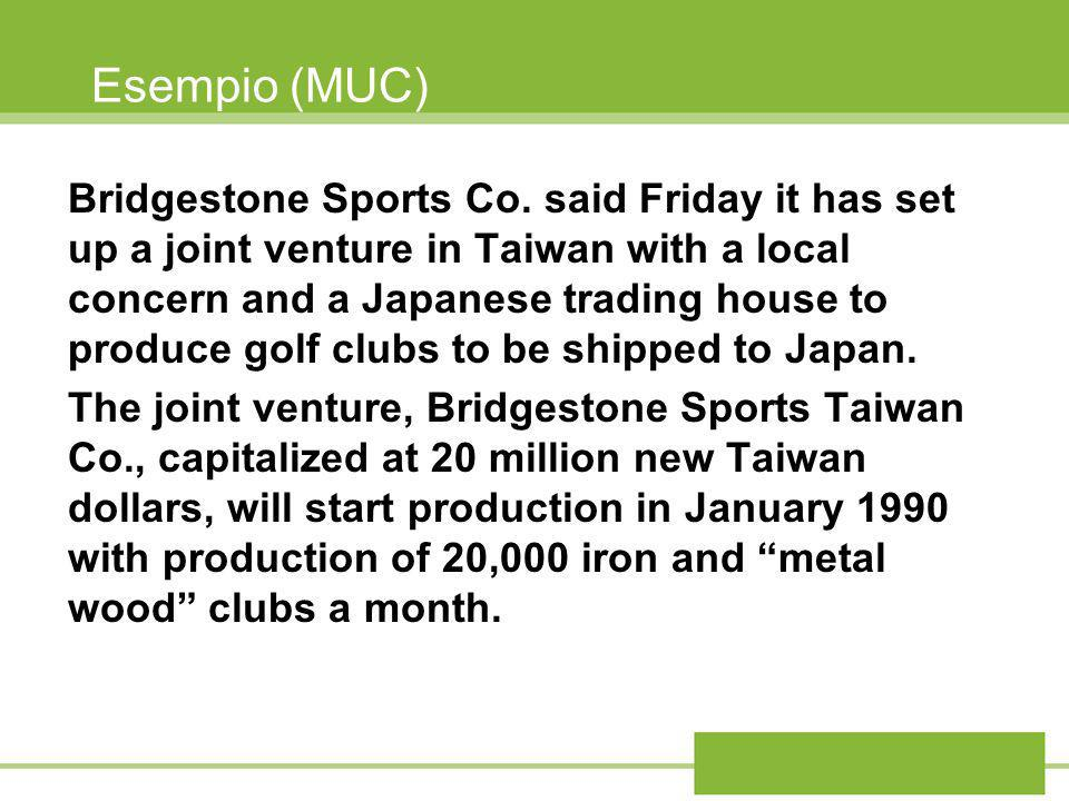 Esempio (MUC) Bridgestone Sports Co.