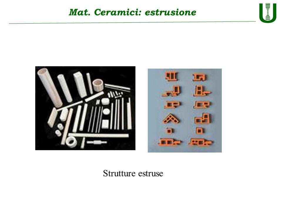 Mat. Ceramici: estrusione Strutture estruse