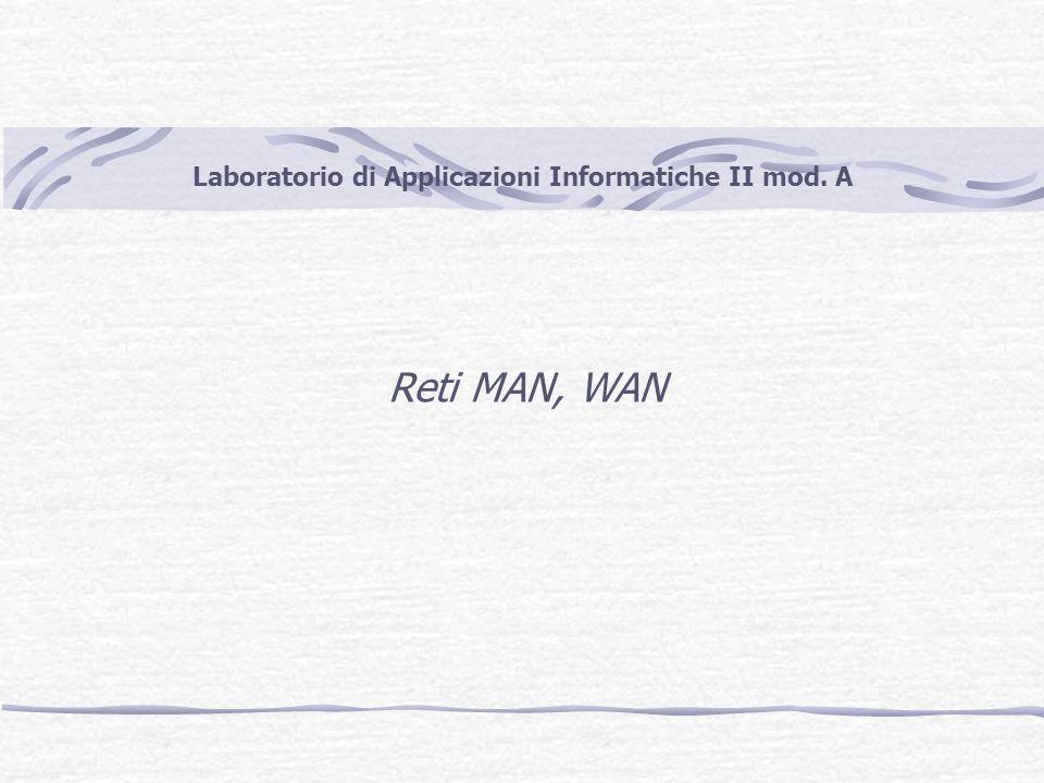 Laboratorio di Applicazioni Informatiche II mod. A Reti MAN, WAN