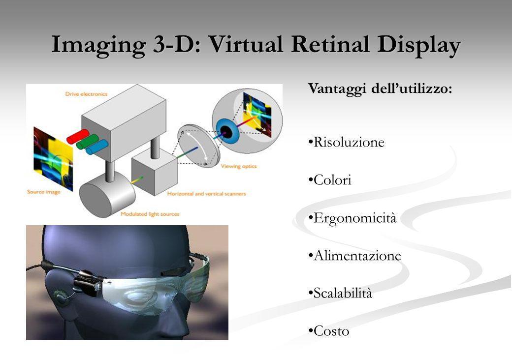 Imaging 3D e visualizzazione False 3-D imaging Due immagini create, una sfasata o ritardata rispetto allaltra Interlacciate a 120 Hz su singolo scherm