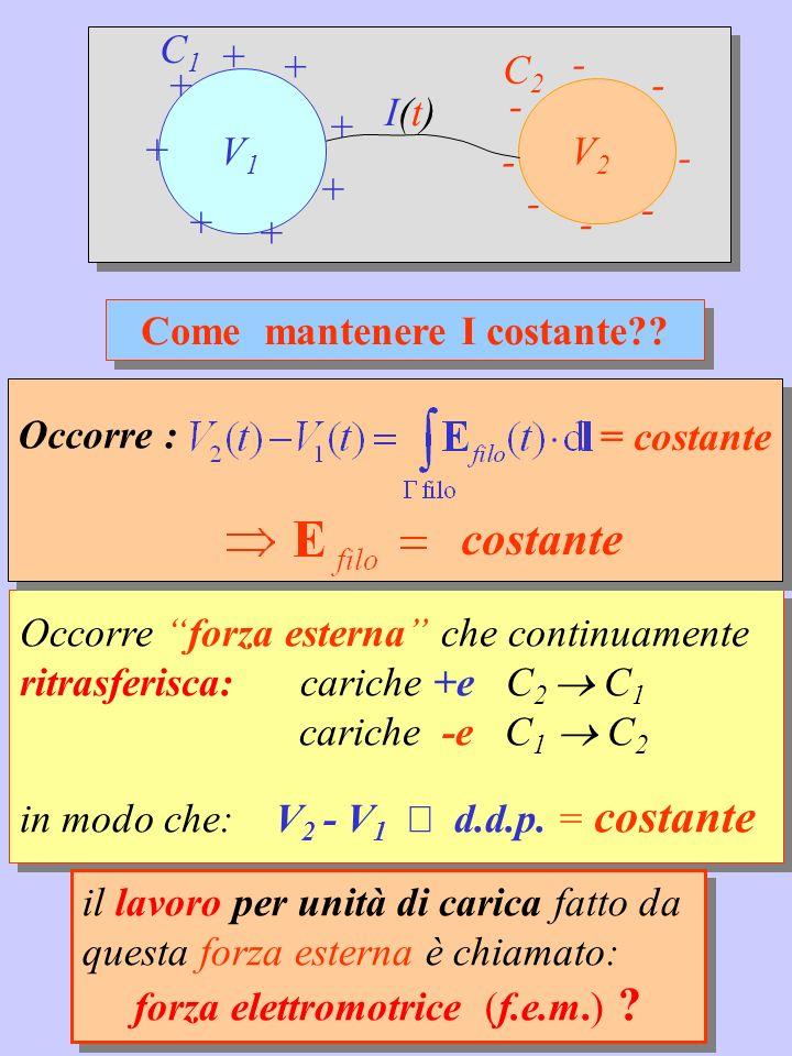 Esercizio 6.1 Un generatore ideale di f.e.m.