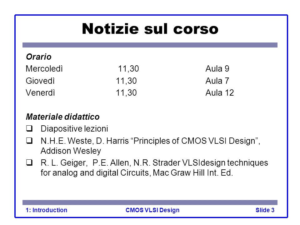 CMOS VLSI Design1: IntroductionSlide 24 CMOS Inverter AY 0 10