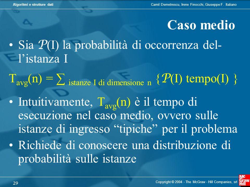 Camil Demetrescu, Irene Finocchi, Giuseppe F. ItalianoAlgoritmi e strutture dati Copyright © 2004 - The McGraw - Hill Companies, srl 29 Sia P (I) la p
