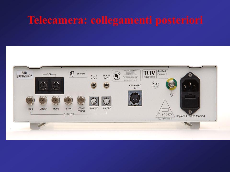 Telecamera: collegamenti posteriori
