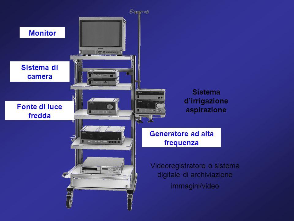 Monitor Sistema di camera Fonte di luce fredda Sistema dirrigazione aspirazione Generatore ad alta frequenza Videoregistratore o sistema digitale di a