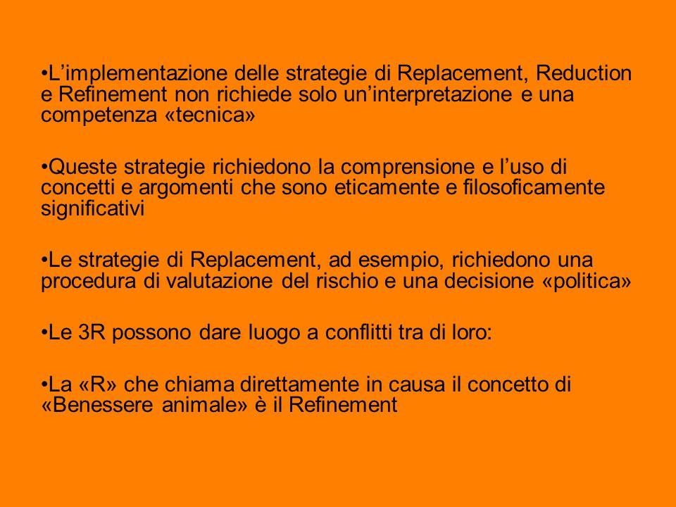 Limplementazione delle strategie di Replacement, Reduction e Refinement non richiede solo uninterpretazione e una competenza «tecnica» Queste strategi