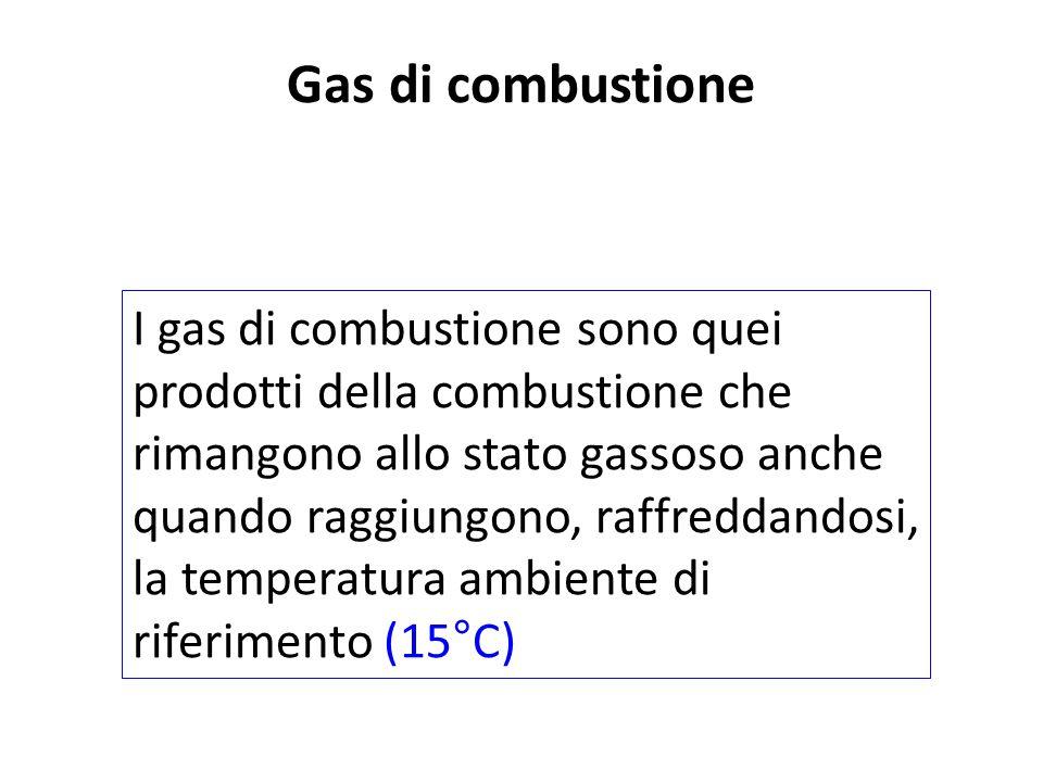 Prodotti di combustione Se l'aria non è sufficiente ad ossidare completamente il carbonio si ha presenza, più o meno elevata, di ossido di carbonio, p